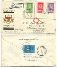 Singapore Malaya cover - 1962 mixed used stamps to Hungary (rare destination)