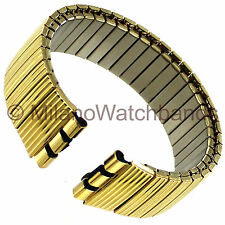 17mm Morellato Gold Tone Twist-O-Flex Stainless Steel Watch Band Fits Swatch