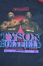 Vintage Mike Tyson Vs Holyfield Finally Boxing MGM T Shirt Nov 9, 1996 Sz Large