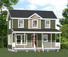 28x16 House -- 2 Bedroom 1.5 Bath -- 821 sq ft  -- PDF FloorPlan -- Model 1