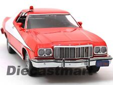 GREENLIGHT 1:18 STARSKY AND HUTCH 1976 FORD GRAN TORINO DIECAST RED/WHITE 19017