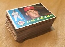 Lot of 80 Vintage Topps Baseball Cards 1960-69 All At Lease EX or Better