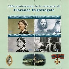 Madagascar Medical Stamps 2020 CTO Florence Nightingale Famous People 4v M/S