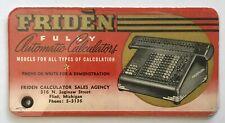 Friden Automatic Calculator, Flint Michigan Ink Blotter Pad Saginaw Street MI Ad