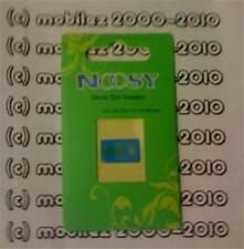 BLUE ☆Noosy☆ Micro SIM Card Holder/Adapter/Converter For Apple iPhone 4/4S SIM