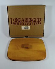 """Longaberger Woodcrafts Harbor Wooden Lid (10"""" x 8.5"""") # 50687 with Box"""