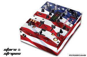 Skin Decal Wrap for PIONEER DJM-400 DJ Mixer CD Pro Audio DJM400 Parts USA FLAG