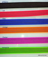 Gummierte Leine Hundeleine Fährtenleine Schleppleine AntiSlip 35cm -25m 6 Farben