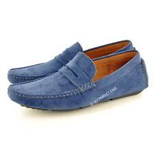 Hombre Símil ante Informal Mocasines Zapatos sin Cierres Disponible GB Tamaños
