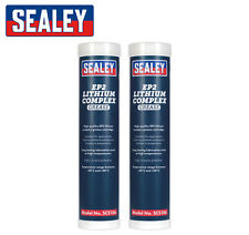 2pk Sealey SCS106 - EP2 Lithium COMPLEX Grease Cartridge - High Temperature 400g