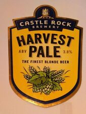 CASTLE ROCK brewery HARVEST PALE real ale beer pump clip badge front Nottingham