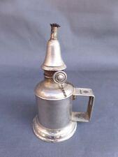 Petite lampe style PIGEON en fer blanc 15 cm de haut 7,5 cm DE diamètre