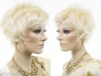 Short Straight Blonde Brunette Red Grey Wigs