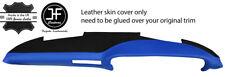 BLACK & BLUE TOP GRAIN LEATHER TOP DASH DASHBOARD COVER FOR PORSCHE 911 930 SC