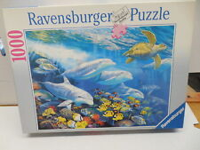 Ravensberger 1000 Piece Jigsaw Puzzle Bountiful Reef Coral Dolphins Octopus Beta