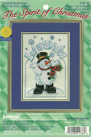 Frosty Snowman Let It Snow Counted Cross Stitch KIT Janlynn Stitching started