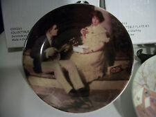 Norman Rockwell Serenade On The Steps Collector Mini Plate Original Box & Stand
