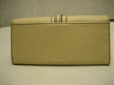 Kenneth Cole Reaction Women's Tan Genuine Leather Wallet Organizer Envelope
