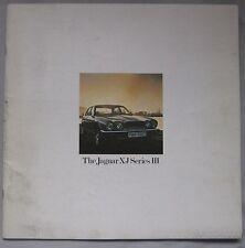 1978 Jaguar XJ Series III range Brochure
