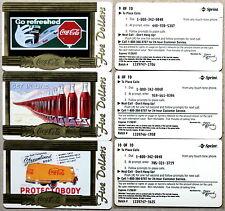 set of 10 mint SCORE BOARD COCA-COLA PHONE CARDS - COKE NATIONAL ´96 $ 5 GOLD