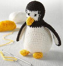 Tchibo Häkel Häkelset Pinguin Häkelmuster Füllmaterial Stickgarn Stopfnadel NEU