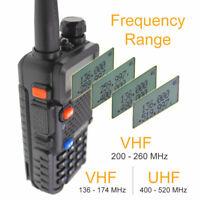 Baofeng UV-5R Tri-band 136-174MHz 220-260MHz 400-520MHz Two way radio 3 Bands