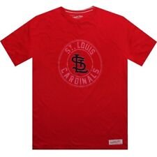 $50.00 Mitchell And Ness St Louis Cardinals Short Sleeve Tee (scarlet / cream) 3
