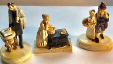 3 Sebastian Miniatures Thanksgiving Couple -Abraham Lincoln - Sampling the Stew