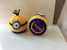 2 x TERRYS CHOCOLATE ORANGE HAND KNITTED  EASTER  MINION  COVERS