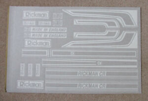 RICKMAN CR 750 Z1 Z900 Z1000 FULL FACTORY CORRECT DECAL KIT THE BEST AVAILABLE