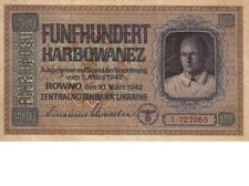 UNC.500 karbovanets of 1942, the Reich Commissariat. Copy banknoty. .VERY RARE