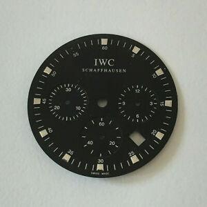 IWC Da Vinci Chronograph Zifferblatt Dial schwarz black #3728 Ø 27,5 mm Z20