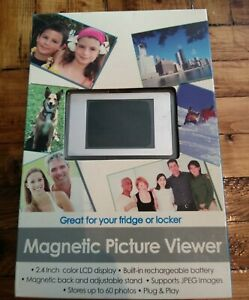 Magnetic Picture Viewer, holds 60 photos,2.4 color LCD Display. NEW!!