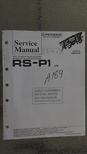 Pioneer rs-p1 service manual original repair book stereo eq