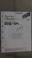 Pioneer rs-p1 service manual original repair book stereo eq