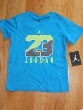 NWT - Nike Jordan Jumpman short sleeved teal & neon green shirt - 4 boys