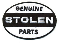 Hot Rod Patch Genuine Stolen parts Badge Ed Big Daddy Roth Drag Race Iron On