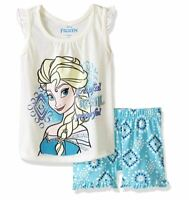 Disney Toddler Girls' 2 Piece Frozen Short Set, Off/White, 2T