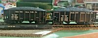 HO scale 2 car lot  New Haven 2 bay hoppers with loads nos 116100 and 116234