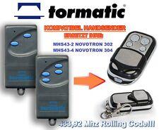 Tormatic MHS43-2 NOVOTRON 302, MHS43-4 NOVOTRON 304 Kompatibel Handsender