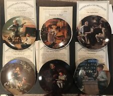 Norman Rockwell 10 Plate Lot Of Collectors Plates Limited Edition W/ Coa Bontage