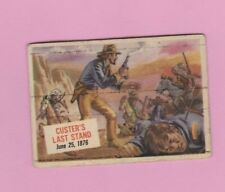 1954 Topps Scoop #45 Single Print # Custer's Last Stand