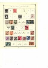 ST.THOMAS & PRINCE ISLANDS STAMPS Early Mint + Used Collection bob  (mb16