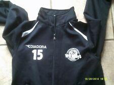 Vtg new jersey wildcats #15 Soccer Black Diadora Jacket size Youth M 00004000