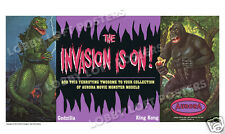 JAMES BAMA AURORA BANNER ART PRINT GODZILLA KING KONG THE INVASION IS ON