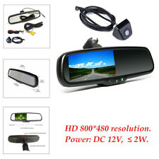 "4.3"" 480 TV lines TFT LCD Rear View Mirror Monitor w/ Rear Camera Night vision"