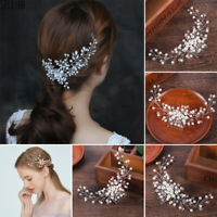 Bridal Wedding Crystal Rhinestone Flower Hair Clip Comb Pin Headband Diamante JP
