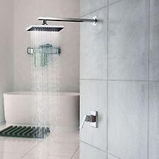 NEW Chrome Wall Mount Rain Shower Waterfall Single Handle Faucet Head Set Bath