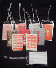 Luggage tag Western Airlines w/playing card choose from multiple designs