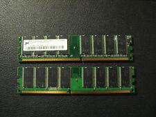 Micron 2x 512MB (1GB total)  DDR 400 184-Pin DIMM